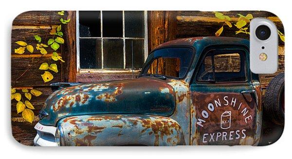 Moonshine Express IPhone Case by Debra and Dave Vanderlaan