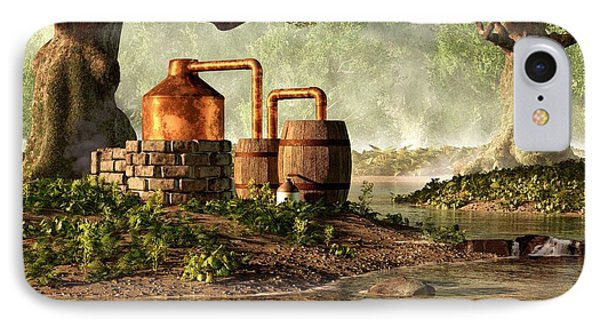 Moonshine Still 1 IPhone Case by Daniel Eskridge