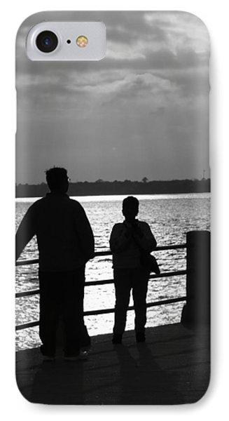 IPhone Case featuring the pyrography Moonshine Sunshine by B Wayne Mullins