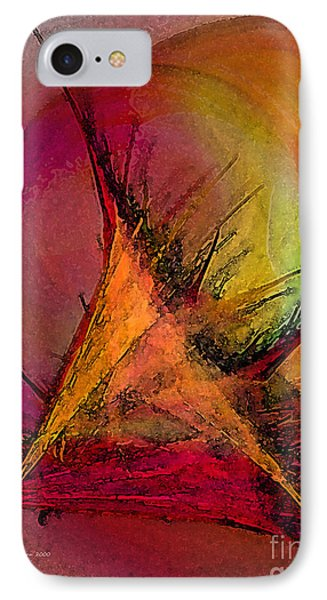Moonstruck-abstract Art IPhone Case by Karin Kuhlmann