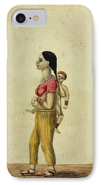 Moor Woman And Child IPhone Case by British Library