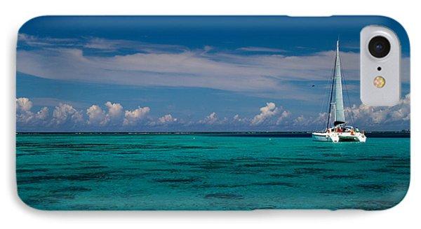 Moorea Lagoon No 16 Phone Case by David Smith