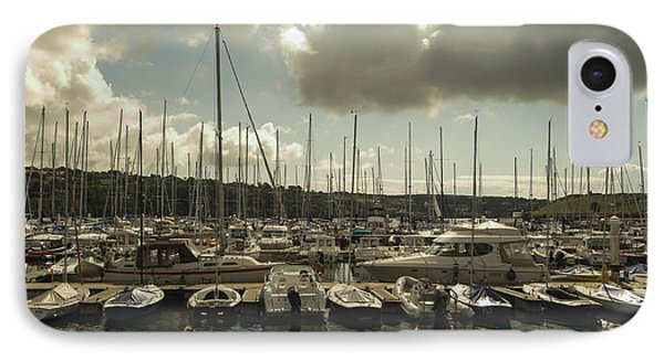 IPhone Case featuring the photograph Moored Boats by Winifred Butler