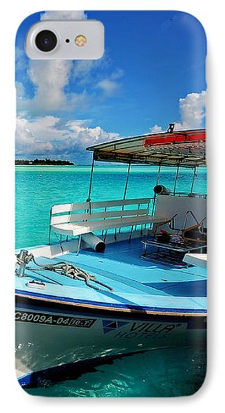 Moored Dhoni At Sun Island. Maldives Phone Case by Jenny Rainbow