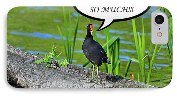Moorhen Miss You Card Phone Case by Al Powell Photography USA
