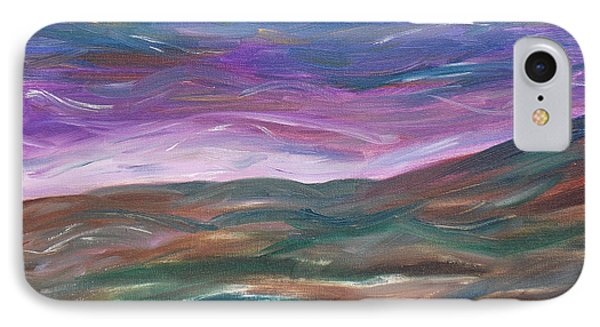 IPhone Case featuring the painting Moorland Evening by Martin Blakeley