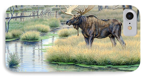 Moose Country IPhone Case by Paul Krapf