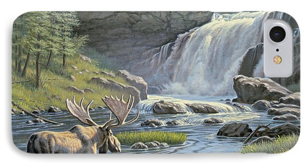 Moose Falls IPhone Case by Paul Krapf