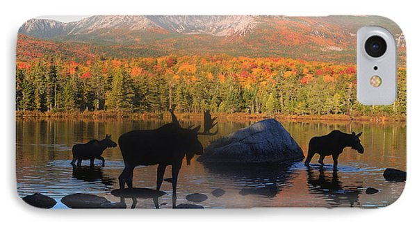 Moose Family Scenic IPhone Case by Jane Axman