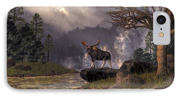Moose In The Adirondacks IPhone Case by Daniel Eskridge