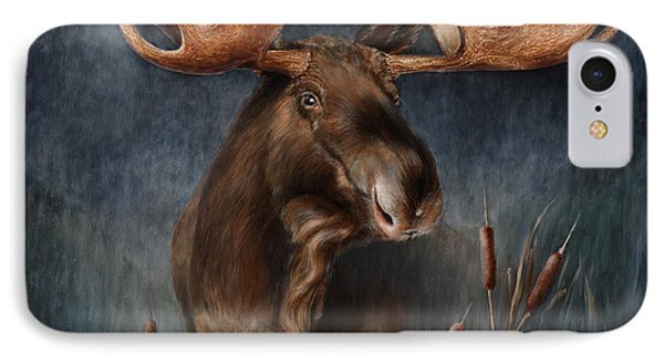 Moose In The Mist IPhone Case