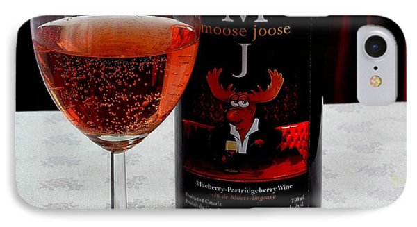 Moose Joose - Blueberry Partridgeberry Wine  Phone Case by Barbara Griffin