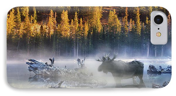 Moose Lake IPhone Case by Leland D Howard