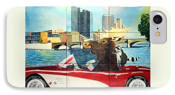 Moose Rapids Il IPhone Case by LeAnne Sowa