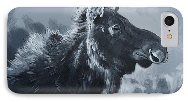 Moose Sketch IPhone Case