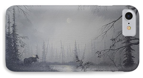 Moose Swanson River Alaska IPhone Case by Richard Faulkner