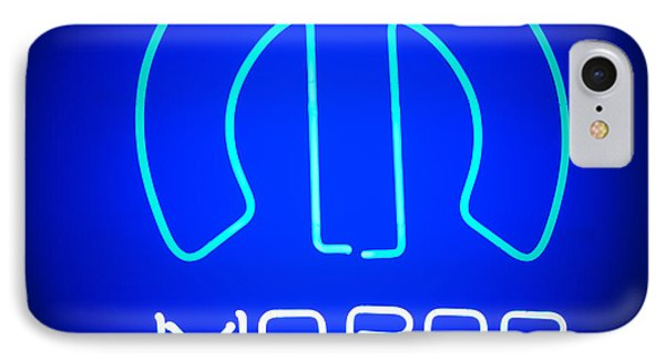 Mopar Neon Sign IPhone Case by Jill Reger