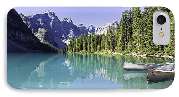 Moraine Lake And Valley Of The Ten Phone Case by Ken Gillespie