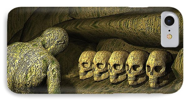 IPhone Case featuring the digital art Morbid Vespers by John Alexander