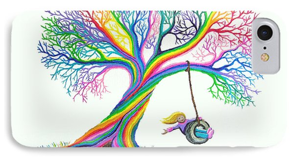More Rainbow Tree Dreams Phone Case by Nick Gustafson
