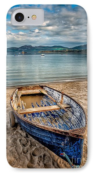 Morfa Nefyn Boat IPhone Case by Adrian Evans