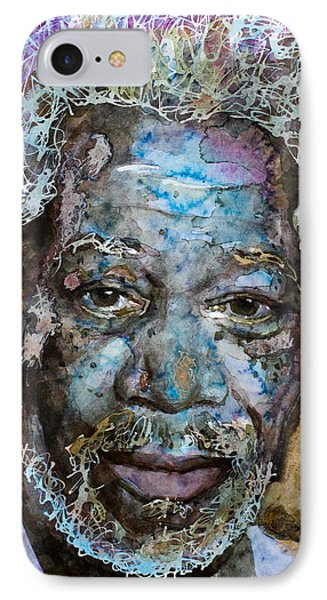 IPhone Case featuring the painting Morgan In Blue by Laur Iduc