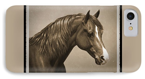 Morgan Horse Old Photo Fx IPhone Case