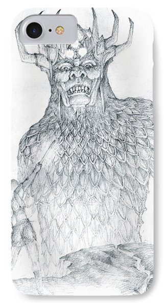 IPhone Case featuring the drawing Morgoth And Fingolfin by Curtiss Shaffer