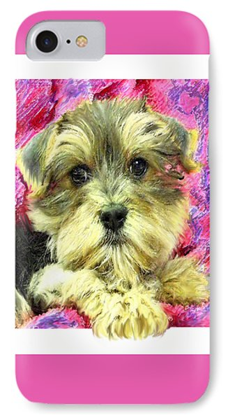 Morkie Puppy Phone Case by Jane Schnetlage
