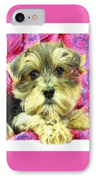Morkie Puppy IPhone Case by Jane Schnetlage