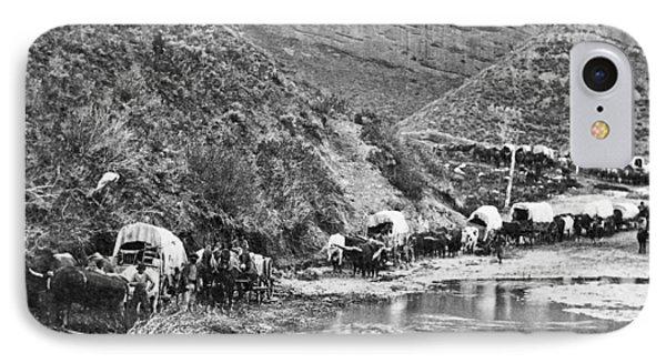 Mormon Emigrant Conestoga Caravan 1879 - To Utah Phone Case by Daniel Hagerman