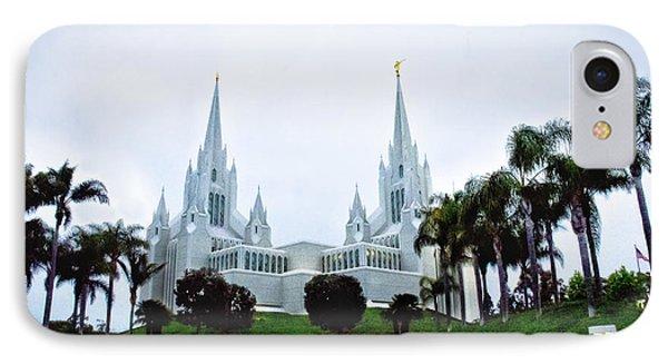 Mormon Temple La Jolla IPhone Case by Joseph Hollingsworth