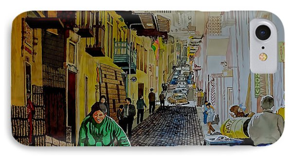 Morning At A Side Street In Cuzco IPhone Case