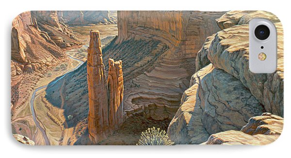 Morning At Spider Rock IPhone Case by Paul Krapf