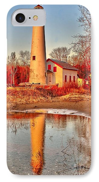 Morning At Sturgeon Point  IPhone Case by Nick Zelinsky
