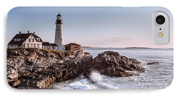 Morning At The Lighthouse IPhone Case by Eduard Moldoveanu