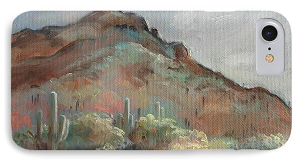 Morning At Usery Mountain Park IPhone Case by Peggy Wrobleski