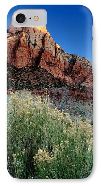 Morning At Zion National Park IPhone Case by Eric Foltz