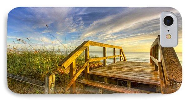 Morning Beach Walk Phone Case by Debra and Dave Vanderlaan