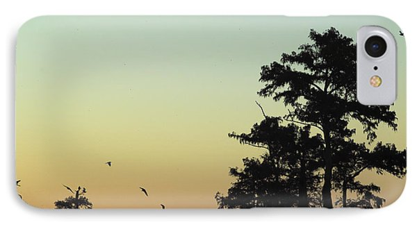 IPhone Case featuring the photograph Morning Birds by Silke Brubaker