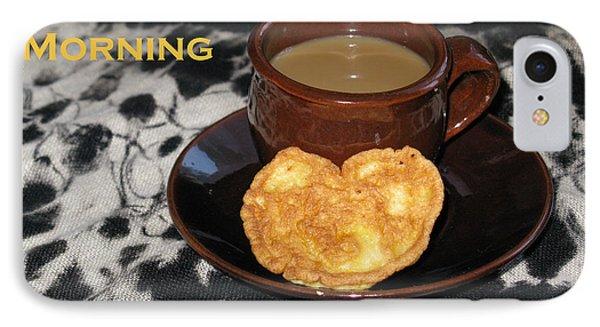 Morning Coffee Served With Love Phone Case by Ausra Huntington nee Paulauskaite