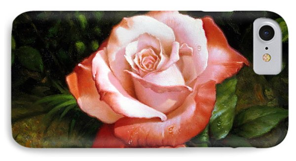 Morning Dew On The Rose Faded IPhone Case