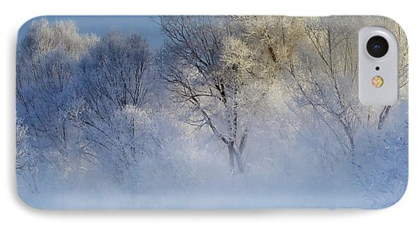Morning Fog And Rime In Kuerbin IPhone Case