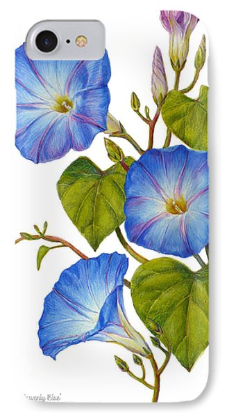 Morning Glories - Ipomoea Tricolor Heavenly Blue IPhone Case by Janet  Zeh