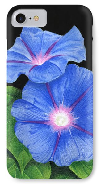 Morning Glories On Black IPhone Case