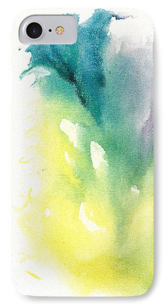 IPhone Case featuring the painting Morning Glory Abstract by Frank Bright