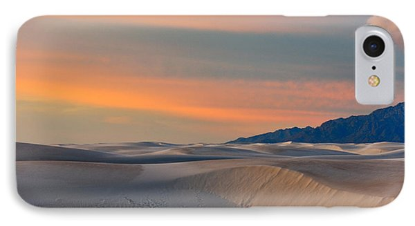 Morning Glory In White Sands IPhone Case by Sandra Bronstein