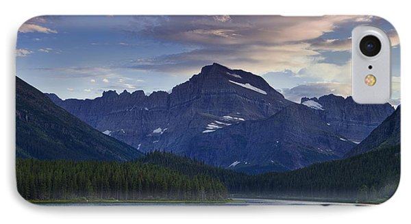 Morning Glow At Glacier Park IPhone Case by Andrew Soundarajan
