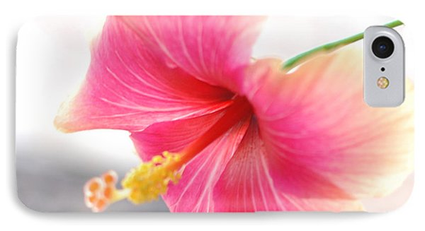 Morning Hibiscus In Gentle Light - Square Macro IPhone Case by Connie Fox