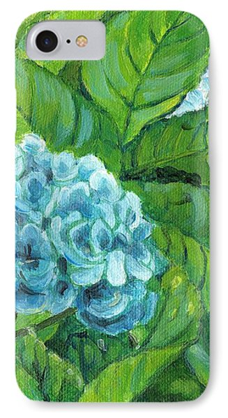 IPhone Case featuring the painting Morning Hydrangea by Jingfen Hwu